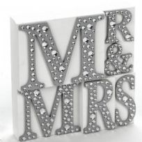 Mr And Mrs Plaque With Jewels